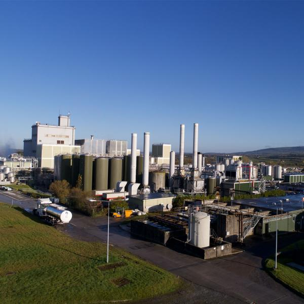 Overhead image of the Glanbia Ireland Ingredients Ballyraggart Facility