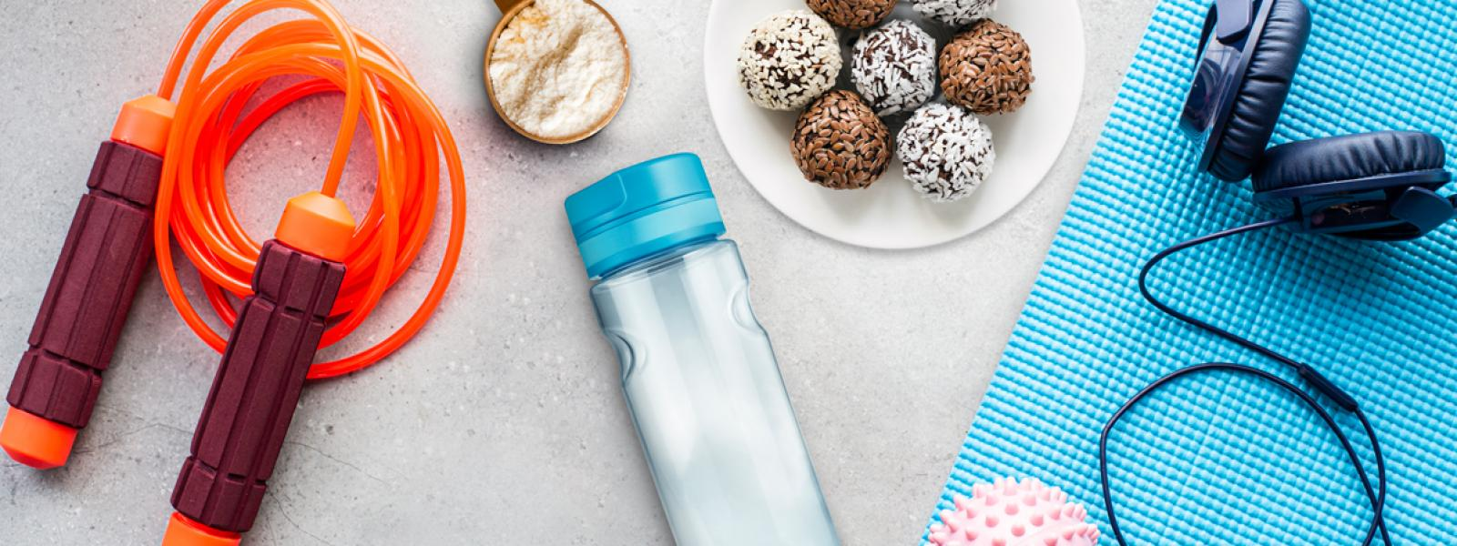 Workout equipment and protein products